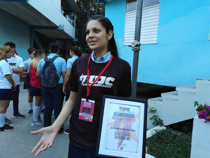 La segunda delegada tunera al XI Congreso de la UJC es del IPVCE Luis Urquiza Jorge (+Audio)