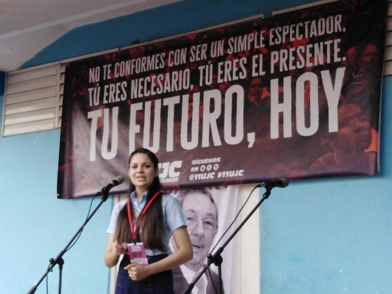 La segunda delegada tunera al XI Congreso de la UJC es del IPVCE Luis Urquiza Jorge