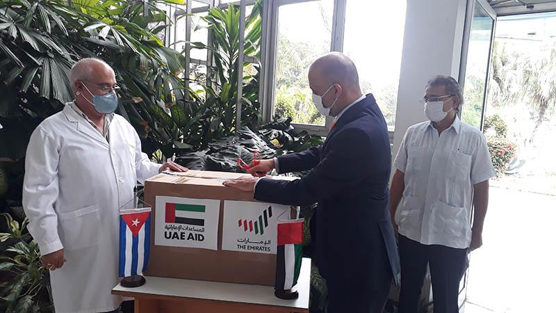 🎧 Emiratos Árabes Unidos entrega donativo a Cuba