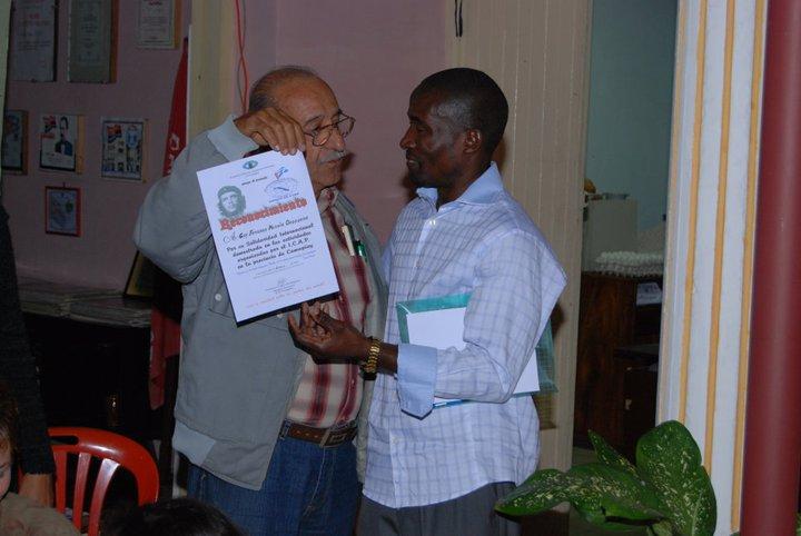 El congolés recibió en su etapa de estudio innumerables reconocimientos del ICAP por su contribución.