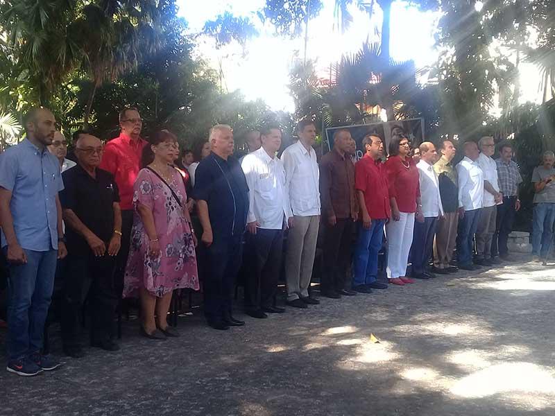 Rinden en el ICAP homenaje a Hugo Chávez