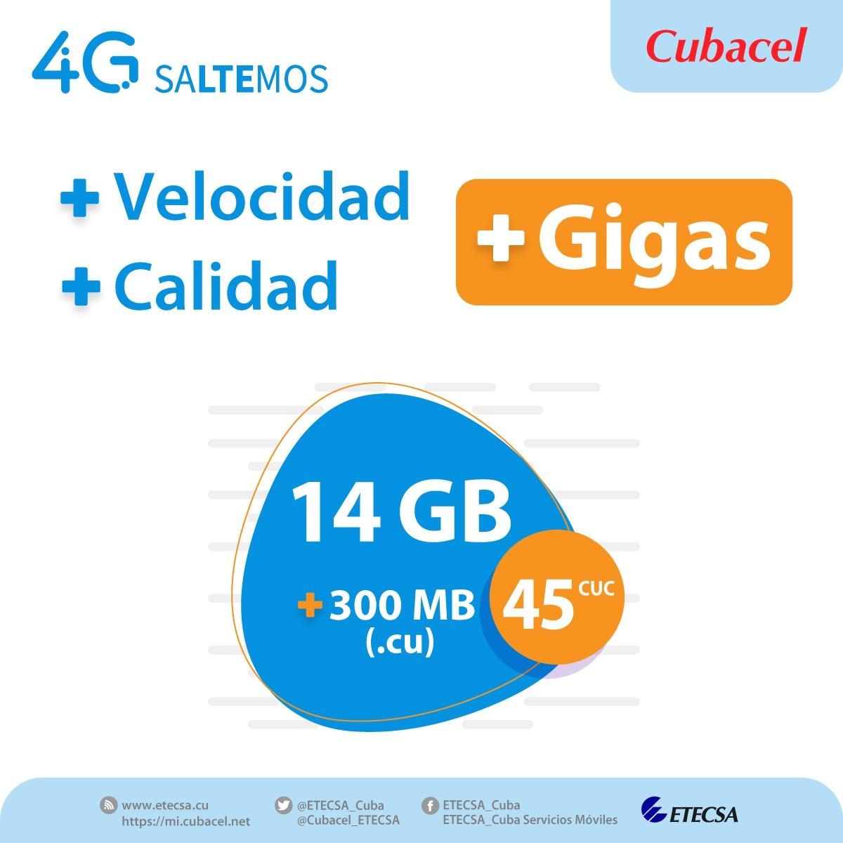 En Cuba: más megas por el mismo precio