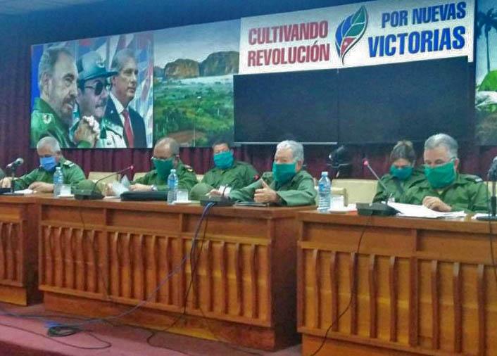 Intercambia Pardo Guerra con el Consejo de Defensa Provincial de Pinar del Río (+Audio)