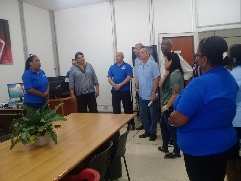 Visita Mercedes López Acea, Palacio Central de Computación