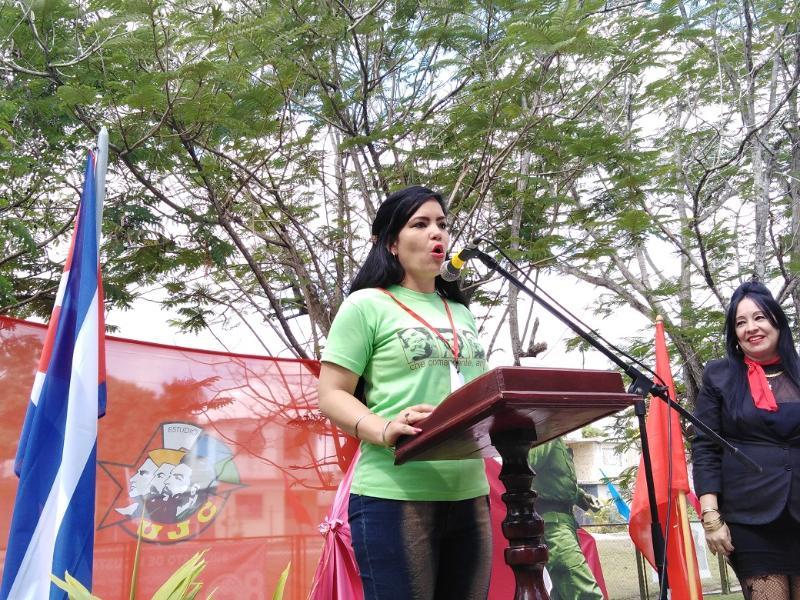 La primera Delegada Directa al XI Congreso de la UJC tunera es de Melissa