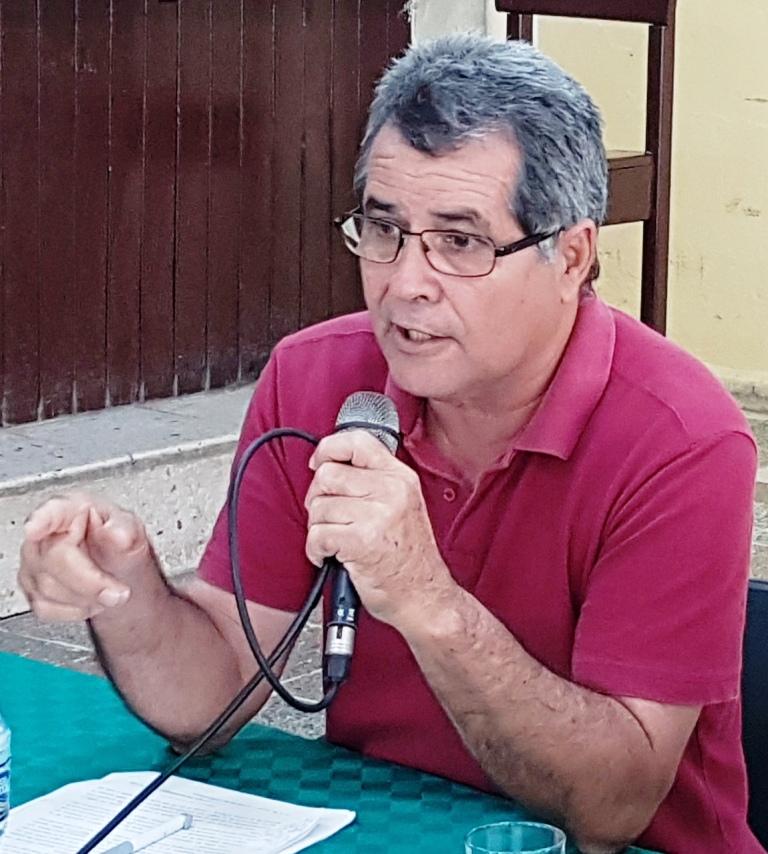 Presidente Unión Historiadores en Camagüey, Ricardo Muñoz.