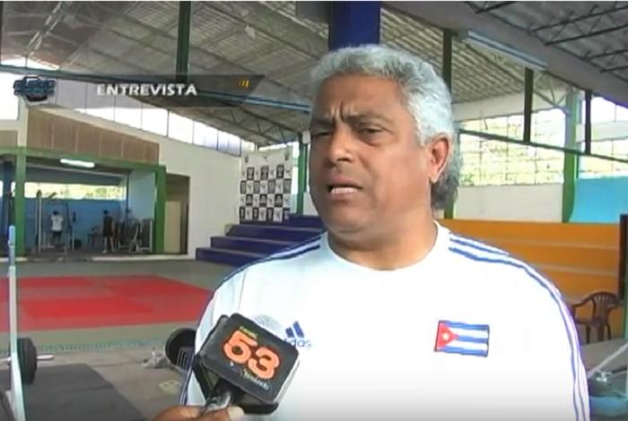 Comisionado Nacional de Levantamiento de Pesas y Presidente de la Federación Cubana, Jorge Luis Barcelán
