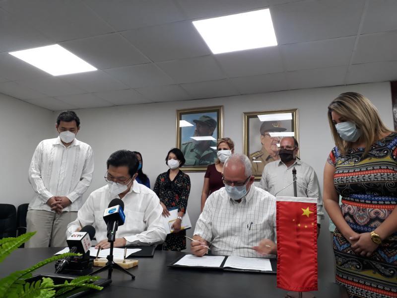 Oficializan entrega de donativo chino a Cuba para enfrentar la COVID-19