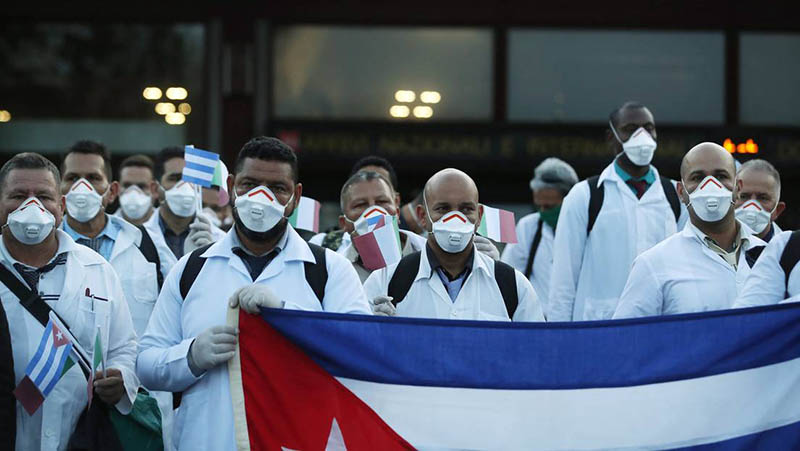 Cuban doctors, world fighters against COVID-19