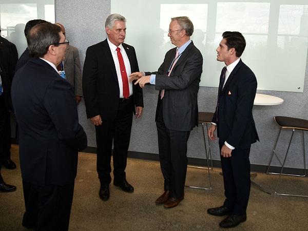 Cuban President Diaz-Canel visits Google headquarters in New York