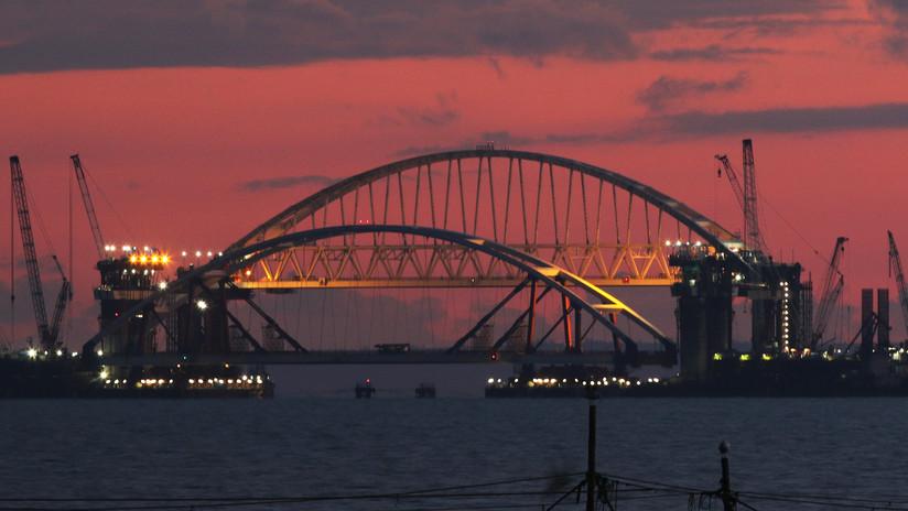 Crimea construye un puente que conectará la península con el resto de Rusia