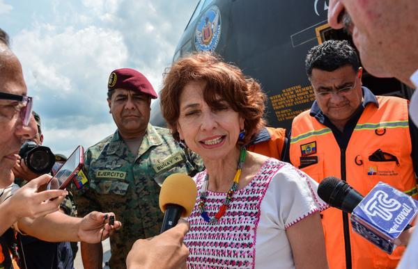 En Cuba ayuda de Ecuador para recuperación tras huracán Irma. Foto: Marcelino Vázquez