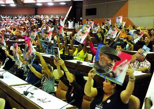 Acto de clausura del VIII Congreso de los Comités de Defensa de la Revolución. Foto Abel Rojas