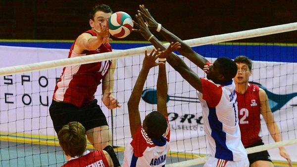 Cuba beats Mexico in Men Pan American Volleyball Cup