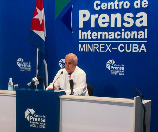 Conferencia de prensa Emilio Lozada sobre gira internacional de Díaz-Canel
