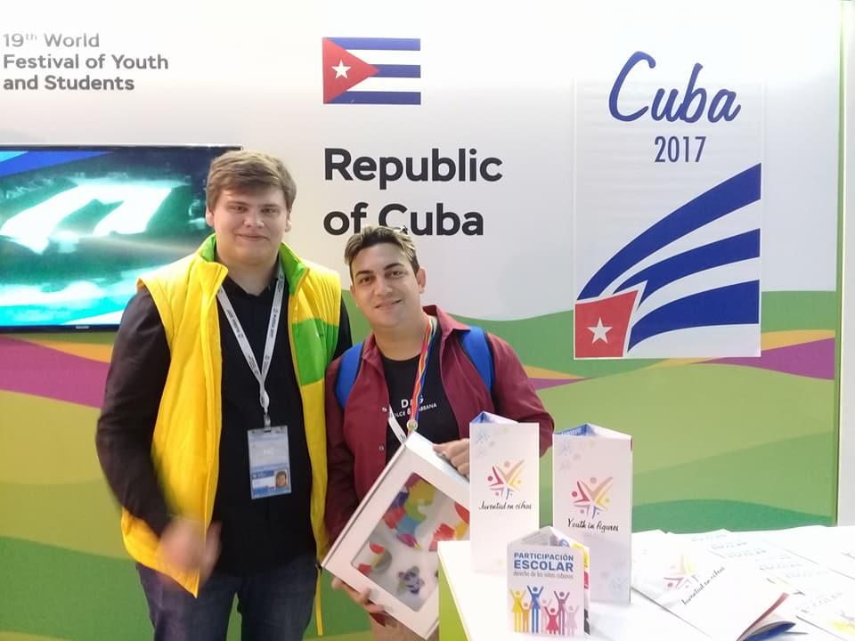 Cubanos en el Festival Mundial de la Juventud y los Estudiantes, Rusia 2017. Fotos:Eduardo Ernesto Cedeño Milán