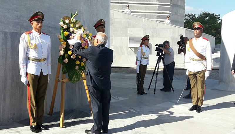 Homenaje de del Presidente del Salvador a José Martí
