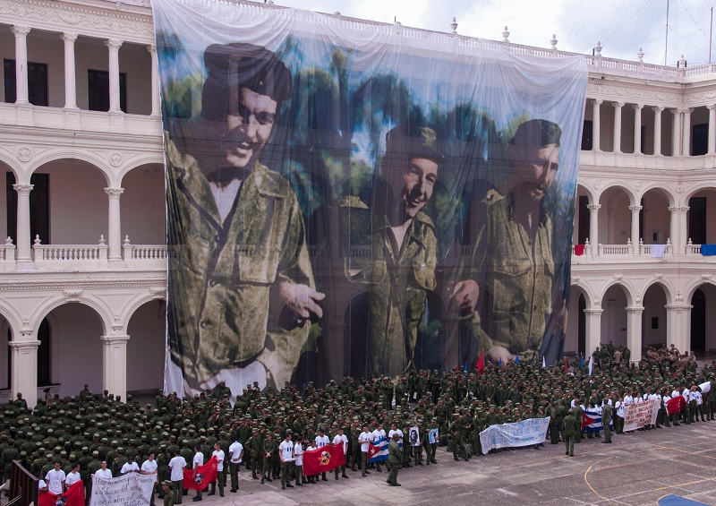 Jóvenes de las Fuerzas Armadas Revolucionarias condenan el bloqueo