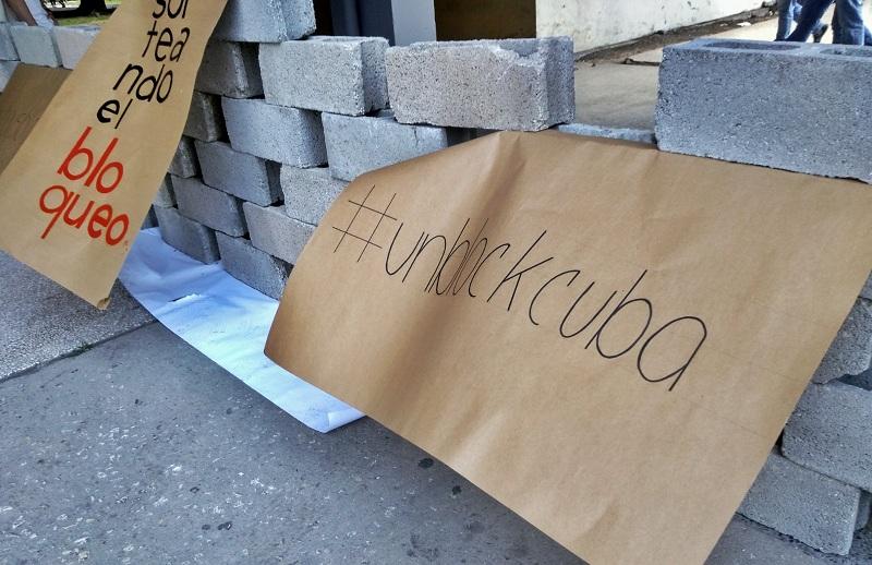 Las manifestaciones artísticas sirvieron para protestar contra el bloqueo