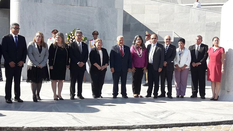 Recibimiento a Salvador Sánchez Cerén, Memorial José Martí