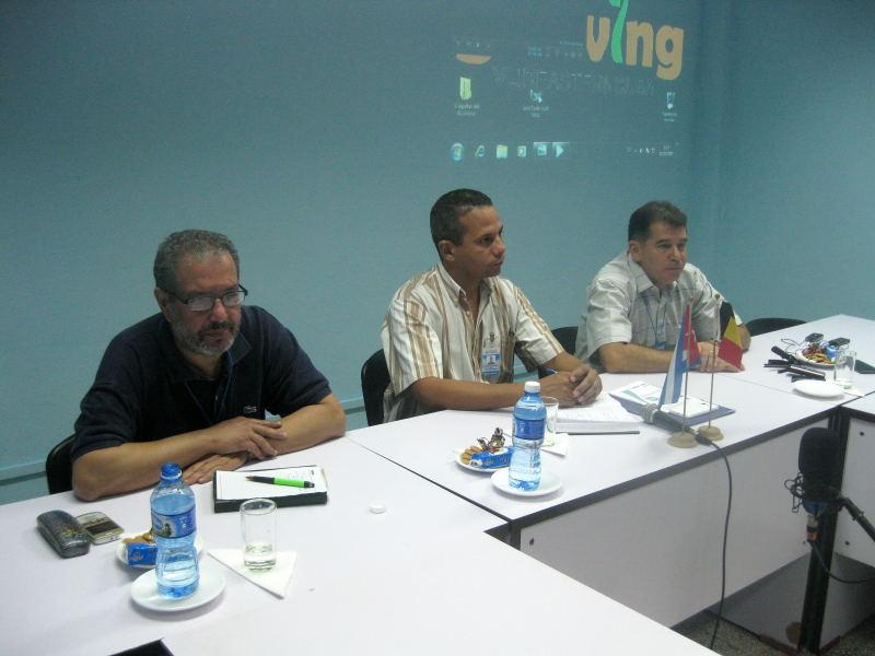 Encuentro académico entre Bélgica y Cuba. Foto: Sergio Martínez