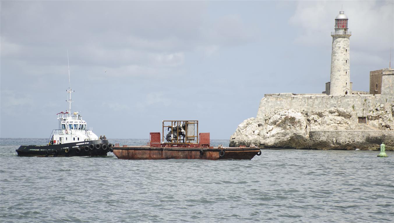 La pieza de 8,5 toneladas esculpida en bronce arribó a Cuba proveniente de Estados Unidos a principios de octubre del pasado año