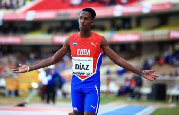Cuban Jordan Diaz receives NACAC 2018 Junior Athlete Award of the Year