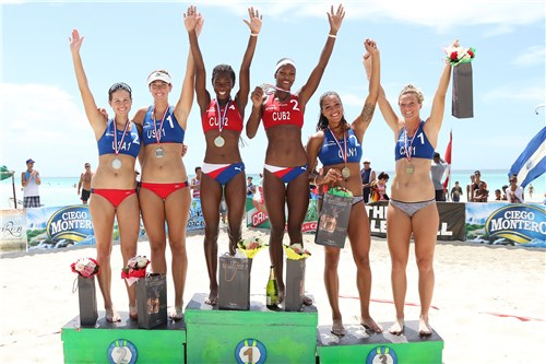 Cuban duos win gold in Varadero beach volleyball