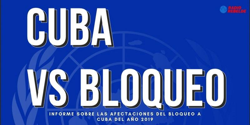 Informe sobre las afectaciones del Bloqueo a Cuba del año 2019