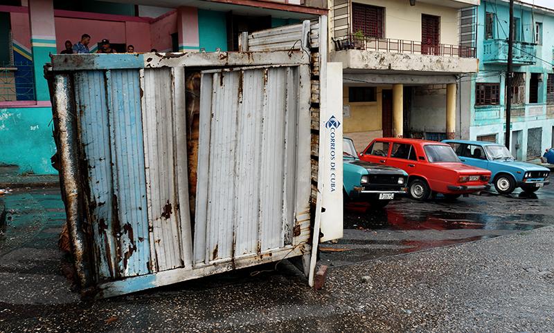 Huracán Irma, estanquillo de 10 de Octubre y Dolores, La Habana, Cuba. Foto: Sergei Montalvo Arostegui