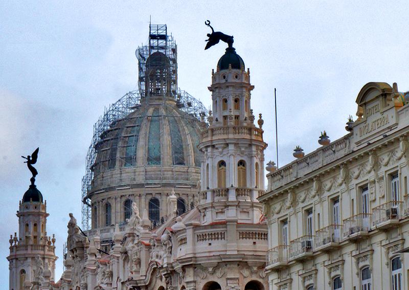 Huracán Irma, Gran Teatro de La Habana Alicia Alonso. Foto: Sergei Montalvo Arostegui
