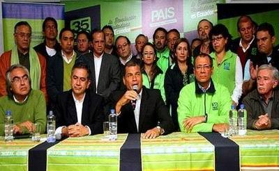 Rafael Correa afirma que se vivió una jornada democrática en Ecuador